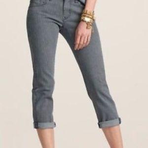 CAbi - Style 324 Johnny Capri Striped Jeans - 12